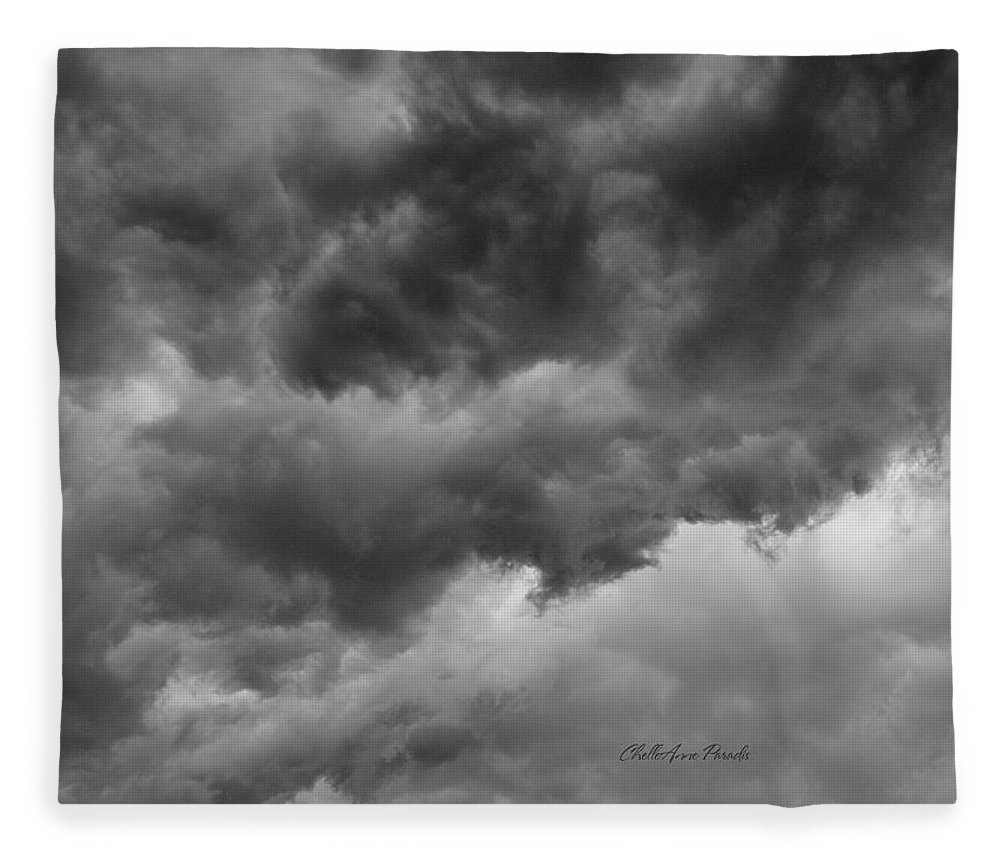 Clouds Fleece Blanket featuring the photograph Faces In The Mist Of Chaos by ChelleAnne Paradis
