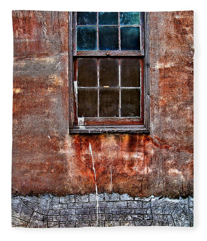 Window Fleece Blanket featuring the photograph Faded Over TIme by Christopher Holmes