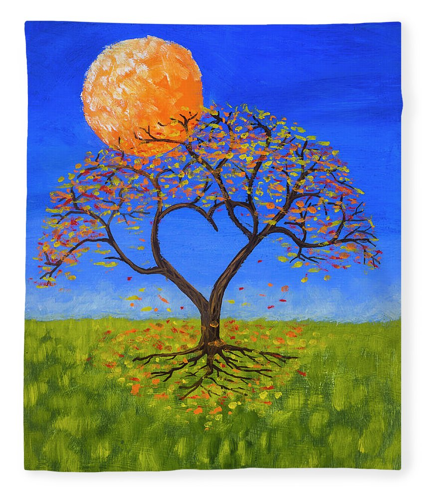 Love Fleece Blanket featuring the painting Falling For You by Jerry McElroy