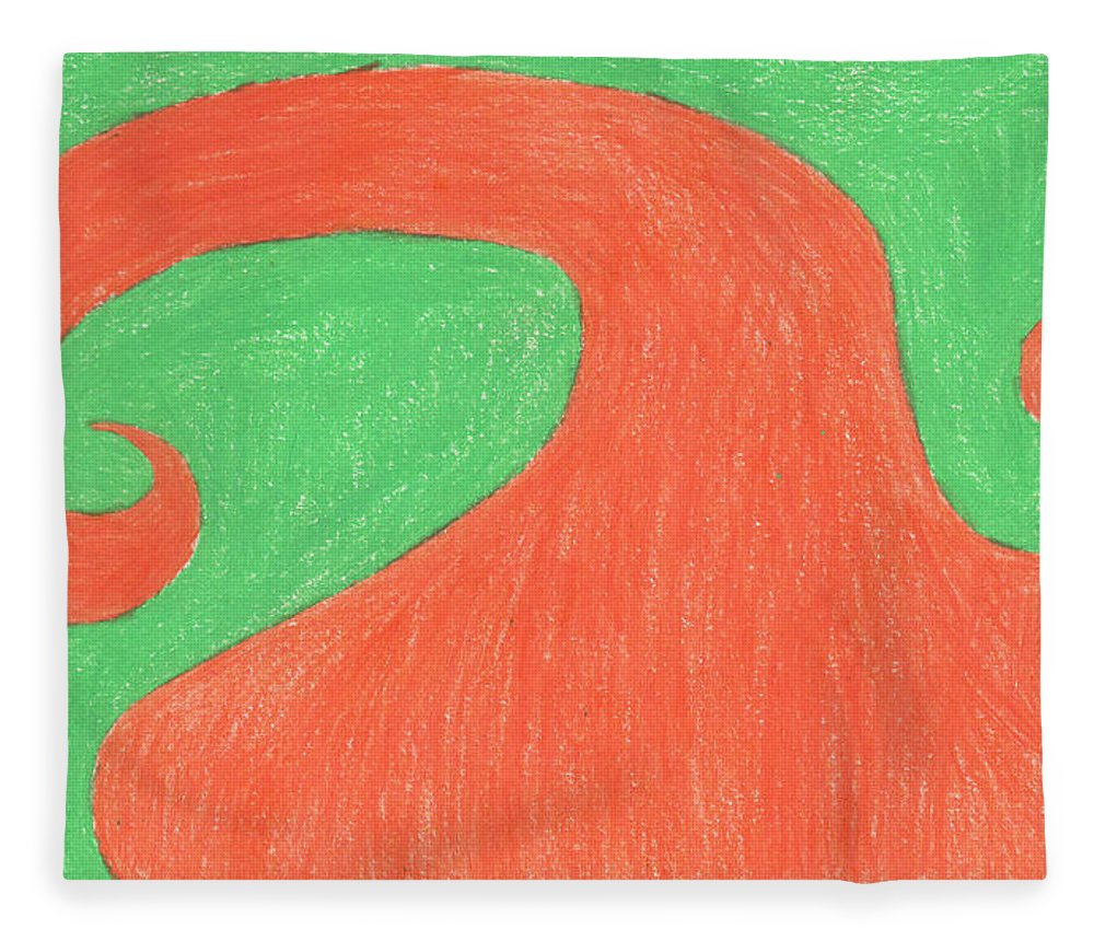 Spiral Tree Fleece Blanket featuring the painting Feel Fall by Sindy Original