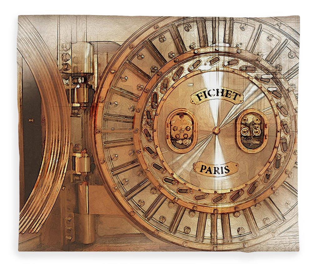 Fichet Bank Vault Door And Lock Fleece Blanket for Sale by Serge ...