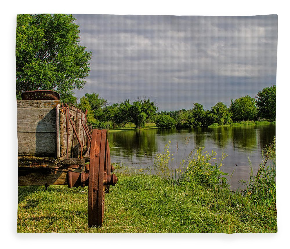 Wagon Fleece Blanket featuring the photograph Final Stop by Alana Thrower