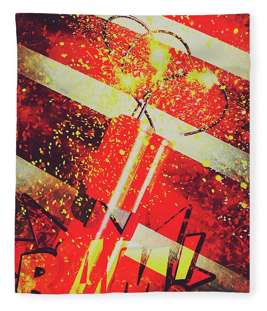 Meltdown Fleece Blanket featuring the digital art Financial Meltdown Coming Soon by Jorgo Photography - Wall Art Gallery