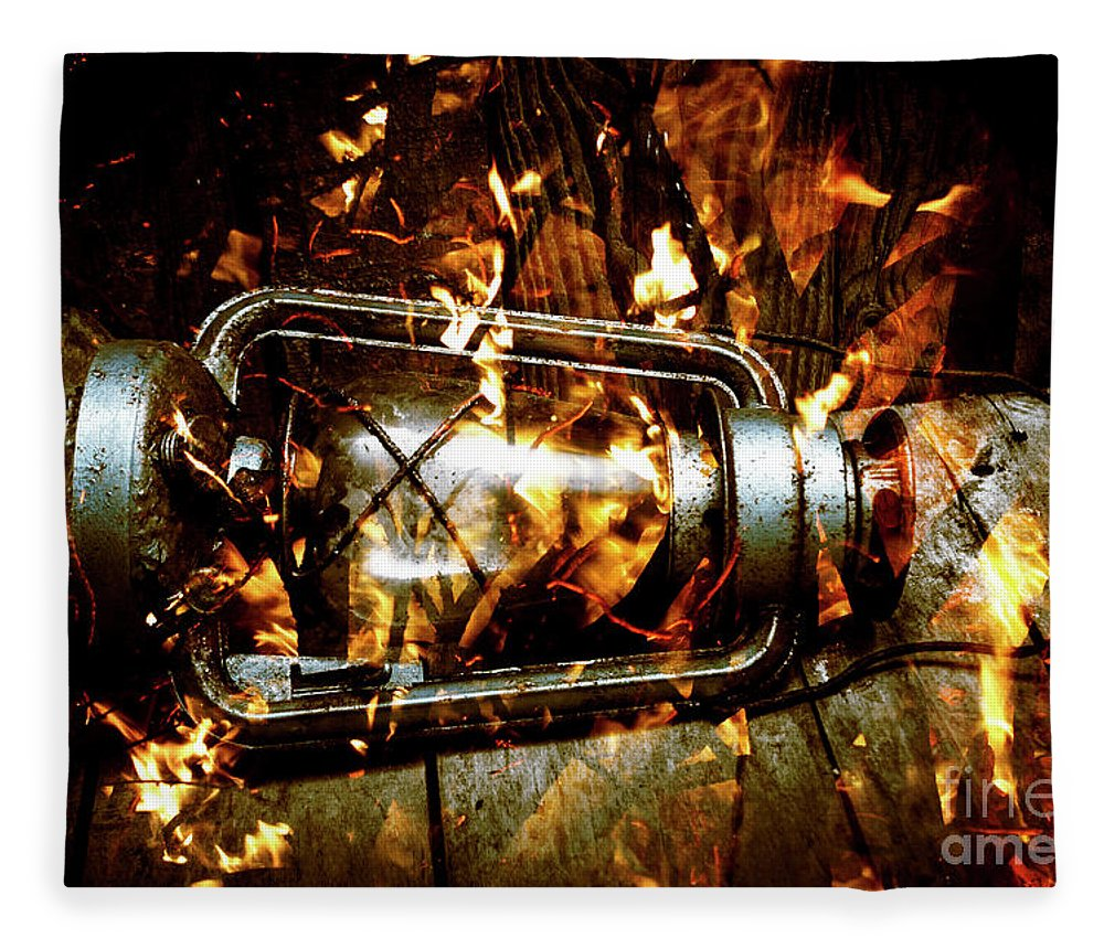 Lantern Fleece Blanket featuring the photograph Fire In The Hen House by Jorgo Photography - Wall Art Gallery