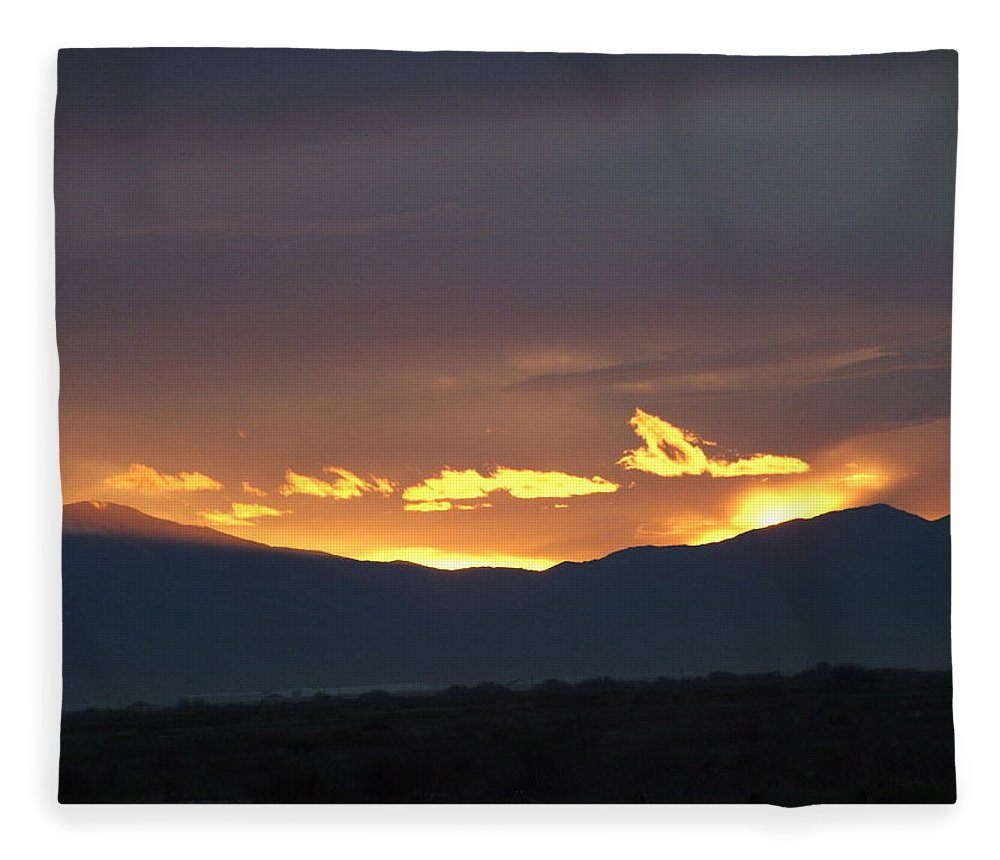 Sunset Fleece Blanket featuring the photograph Fire In The Sky by Shari Chavira