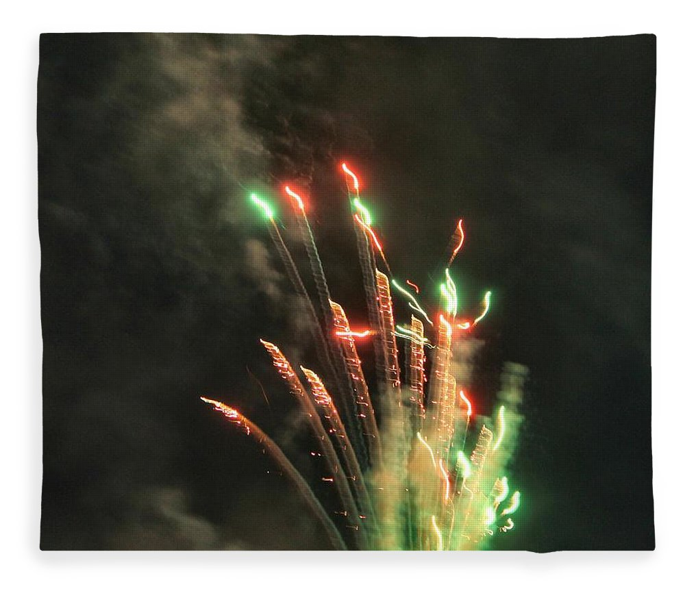 Fireworks Fleece Blanket featuring the photograph Fireworks by Debbie Levene