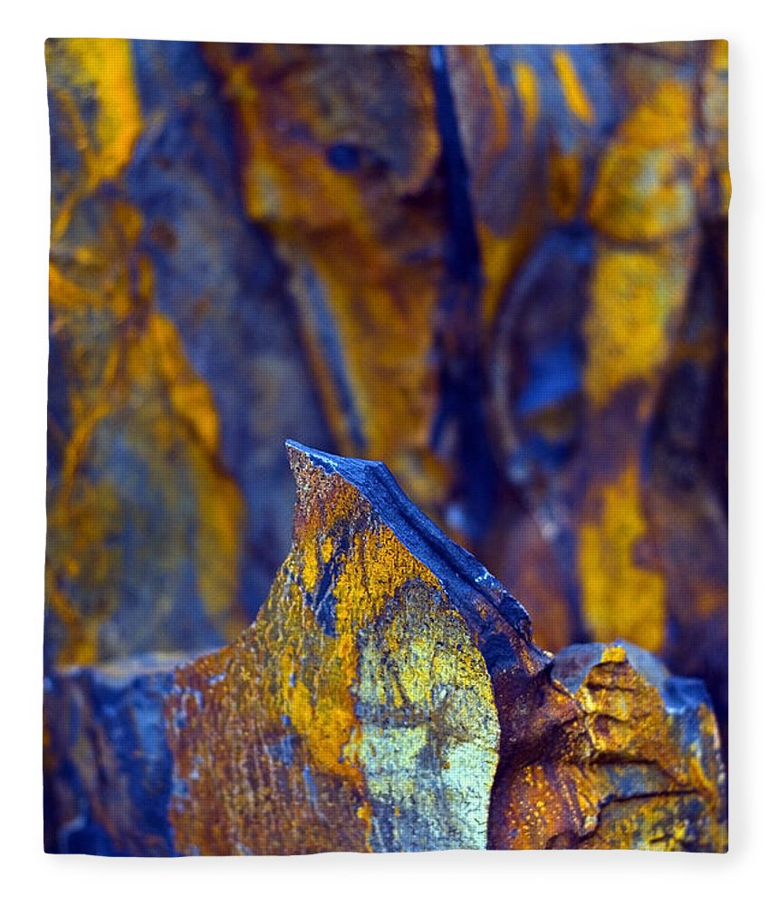 Texture Fleece Blanket featuring the photograph First Cut is the Deepest by Skip Hunt