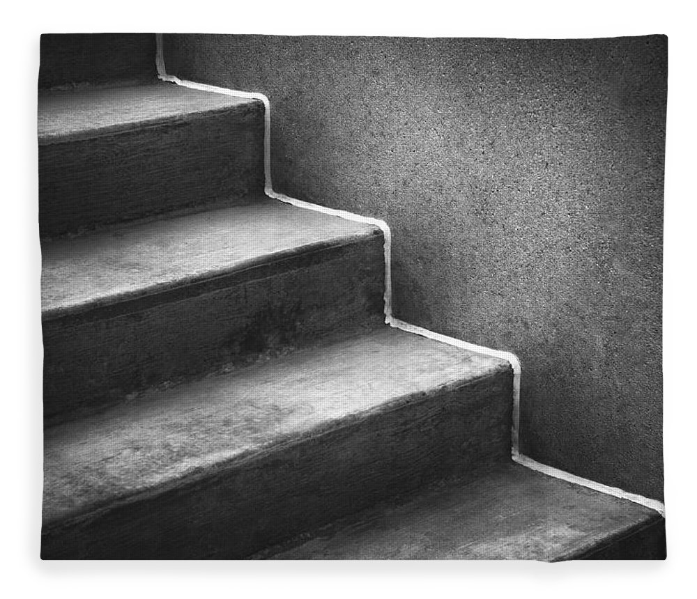 Concrete Fleece Blanket featuring the photograph First Steps Toward by Scott Norris