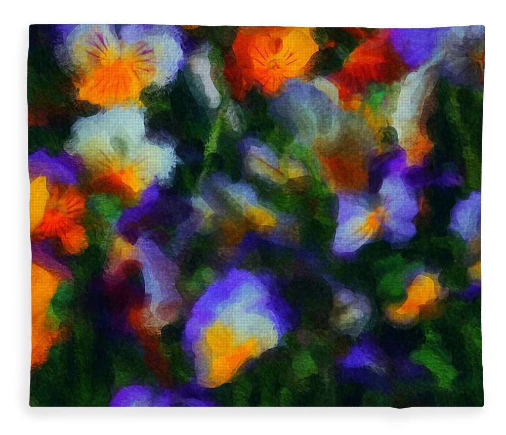 Digital Photography Fleece Blanket featuring the photograph Floral Study 053010a by David Lane