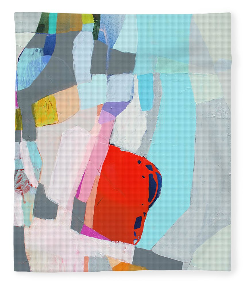 Abstract Fleece Blanket featuring the painting For What You Are by Claire Desjardins