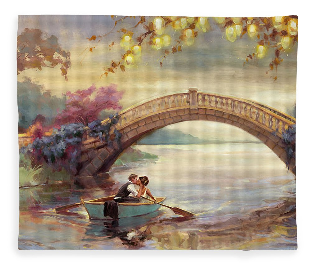 Romance Fleece Blanket featuring the painting Forever Yours by Steve Henderson
