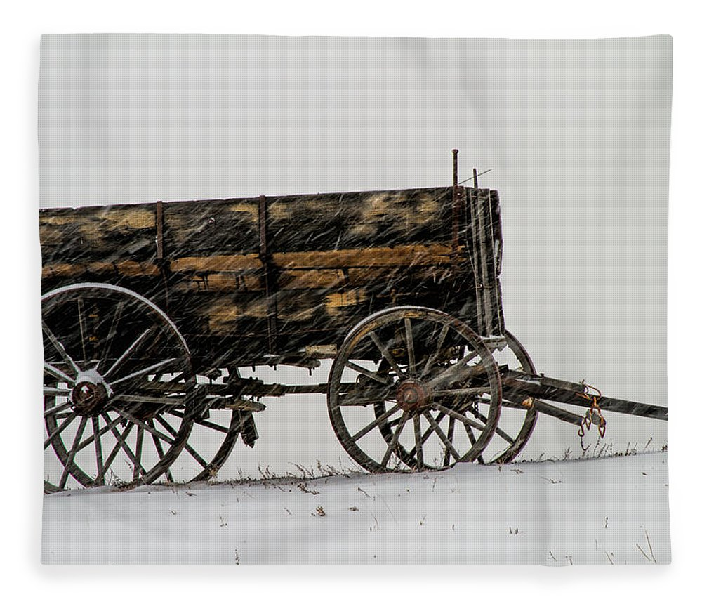 Horse Drawn Fleece Blanket featuring the photograph Forgotten by Alana Thrower