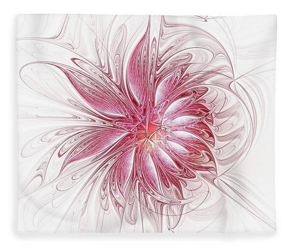 Digital Art Fleece Blanket featuring the digital art Fragile by Amanda Moore