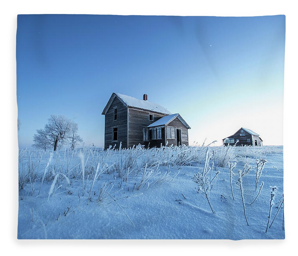 Montrose Fleece Blanket featuring the photograph Frosted by Aaron J Groen