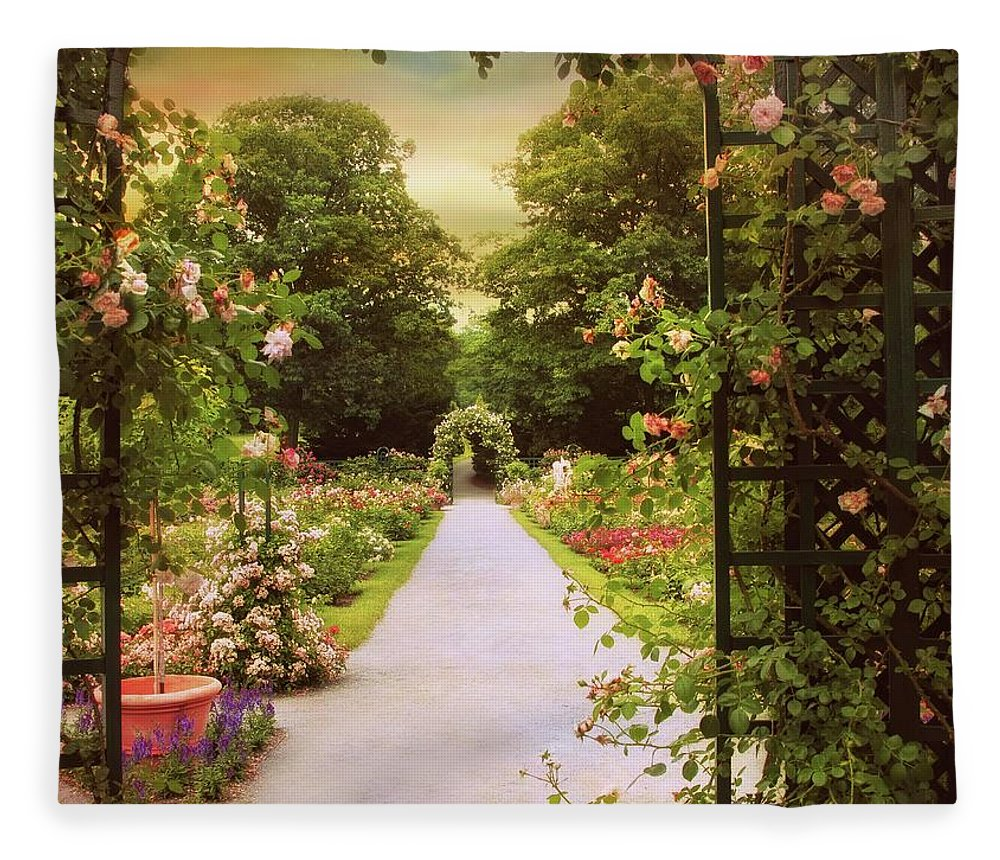 Spring Fleece Blanket featuring the photograph Garden Gate by Jessica Jenney