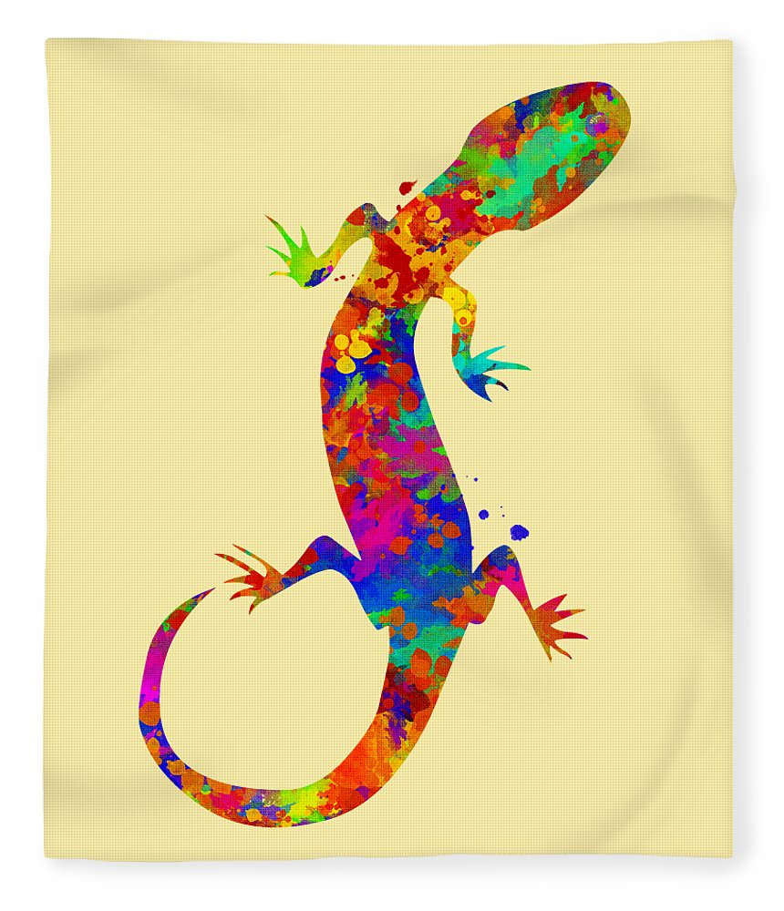 Gecko Watercolor Art Fleece Blanket for Sale by Christina Rollo