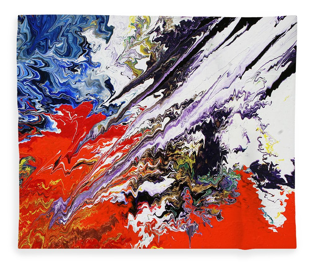 Fusionart Fleece Blanket featuring the painting Genesis by Ralph White
