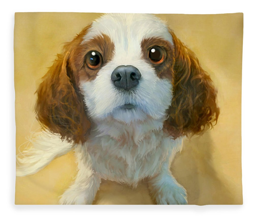 Dog Fleece Blanket featuring the painting More than Words by Sean ODaniels