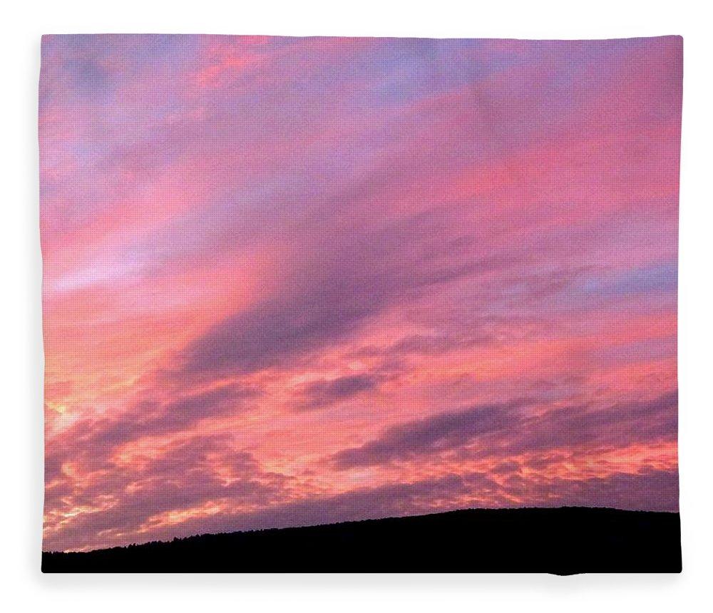 Sunset Fleece Blanket featuring the photograph Glorious Nightfall by Will Borden