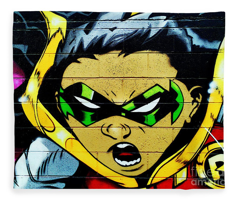 Graffiti Fleece Blanket featuring the photograph Graffiti 7 by Ben Yassa