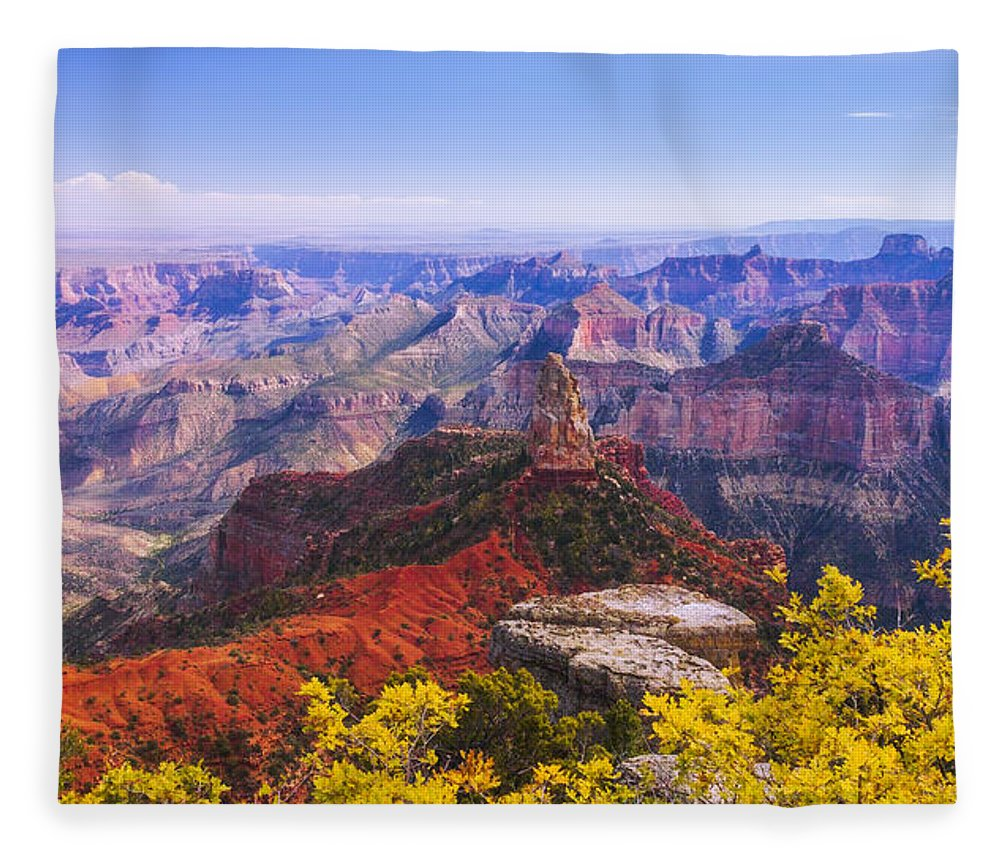Grand Arizona Fleece Blanket featuring the photograph Grand Arizona by Chad Dutson