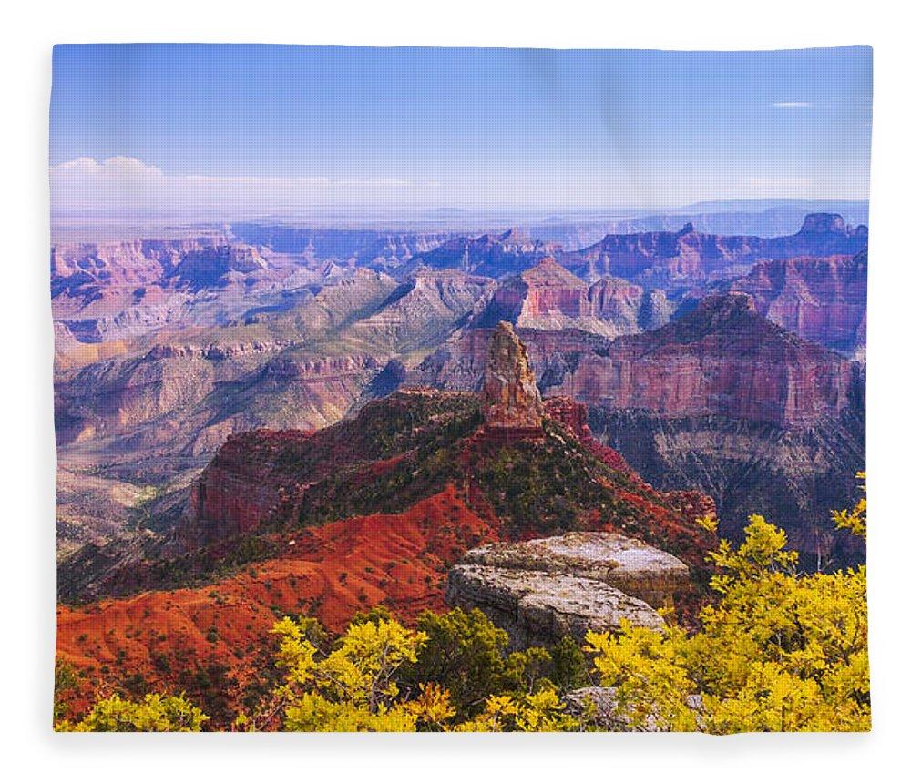 Grand Arizona Fleece Blanket featuring the photograph Grand Arizona by Chad Dutson