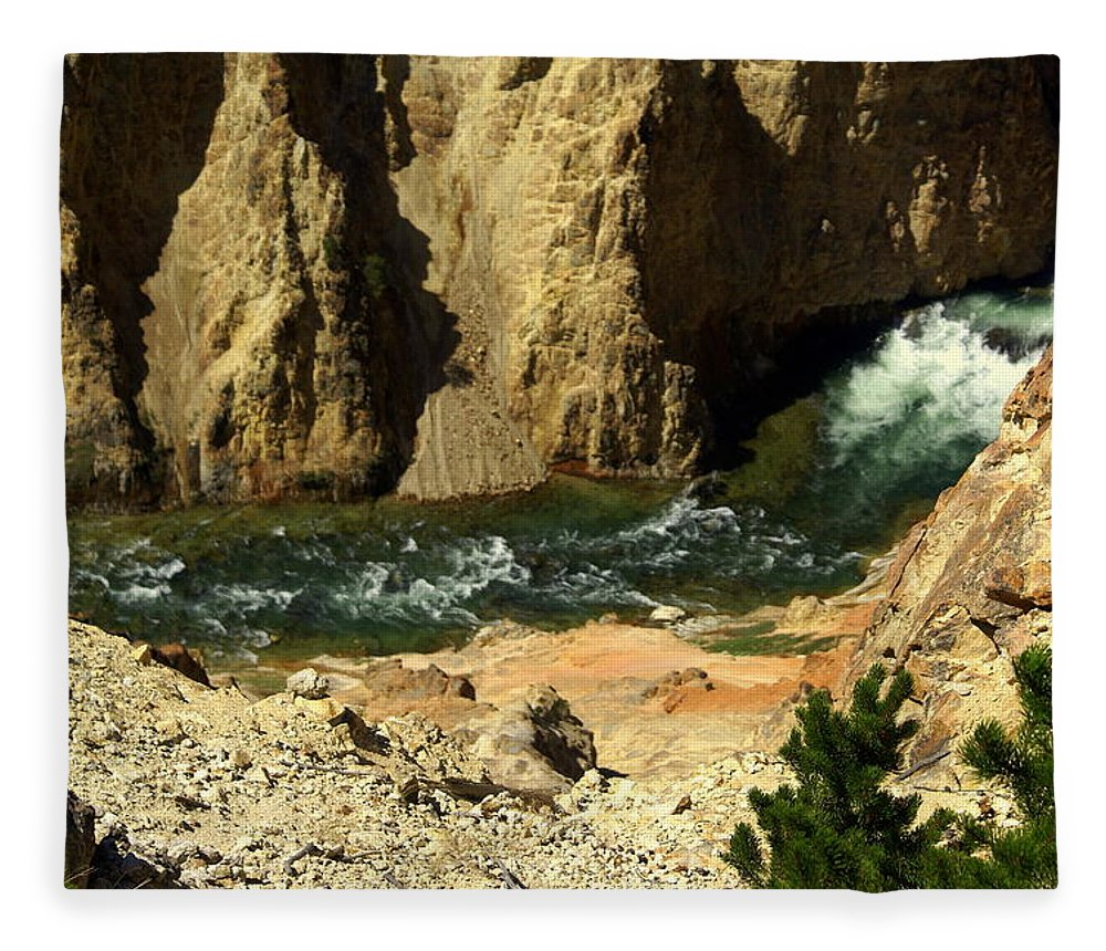 Yellowstone National Park Fleece Blanket featuring the photograph Grand Canyon Of The Yellowstone 3 by Marty Koch