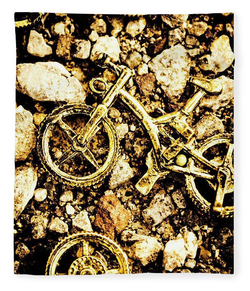 Bike Fleece Blanket featuring the photograph Gravel Bikes by Jorgo Photography - Wall Art Gallery
