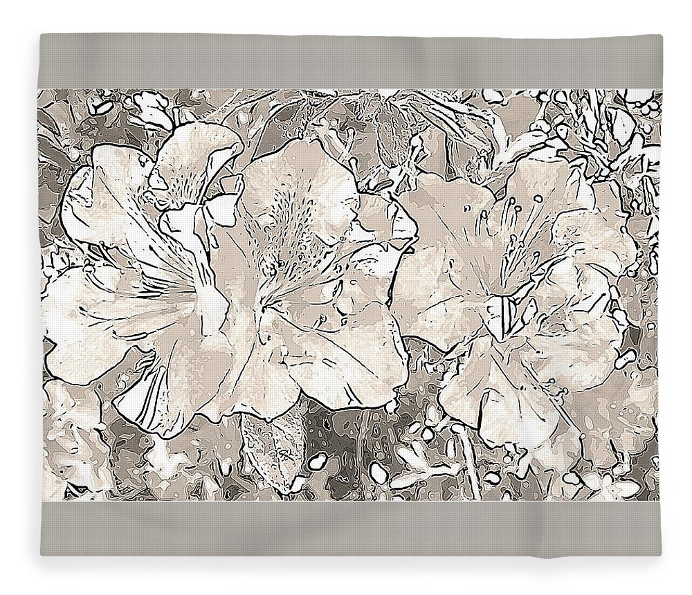 Photography Fleece Blanket featuring the digital art Grayscale Bevy Of Beauties With Sepia Tones by Marian Bell