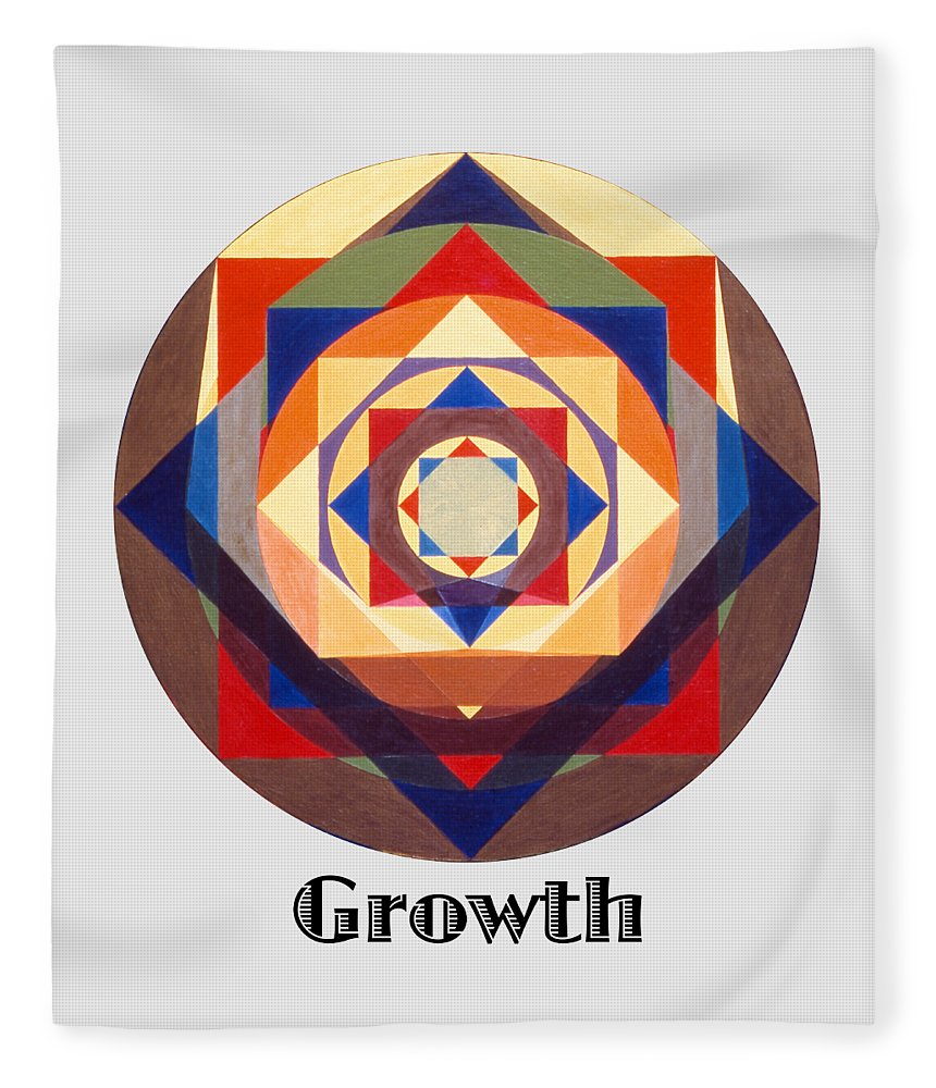 Painting Fleece Blanket featuring the painting Growth text by Michael Bellon