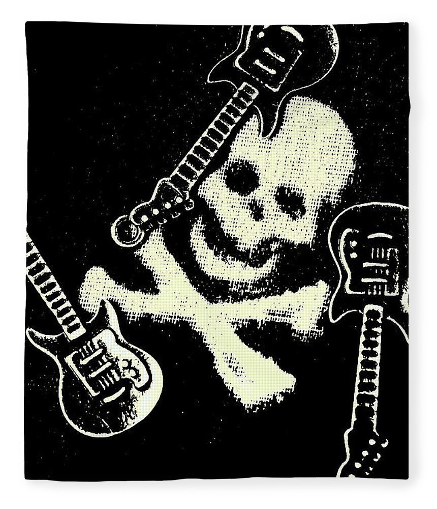 Heavy Metal Fleece Blanket featuring the photograph Guitars Of Black Metal by Jorgo Photography - Wall Art Gallery