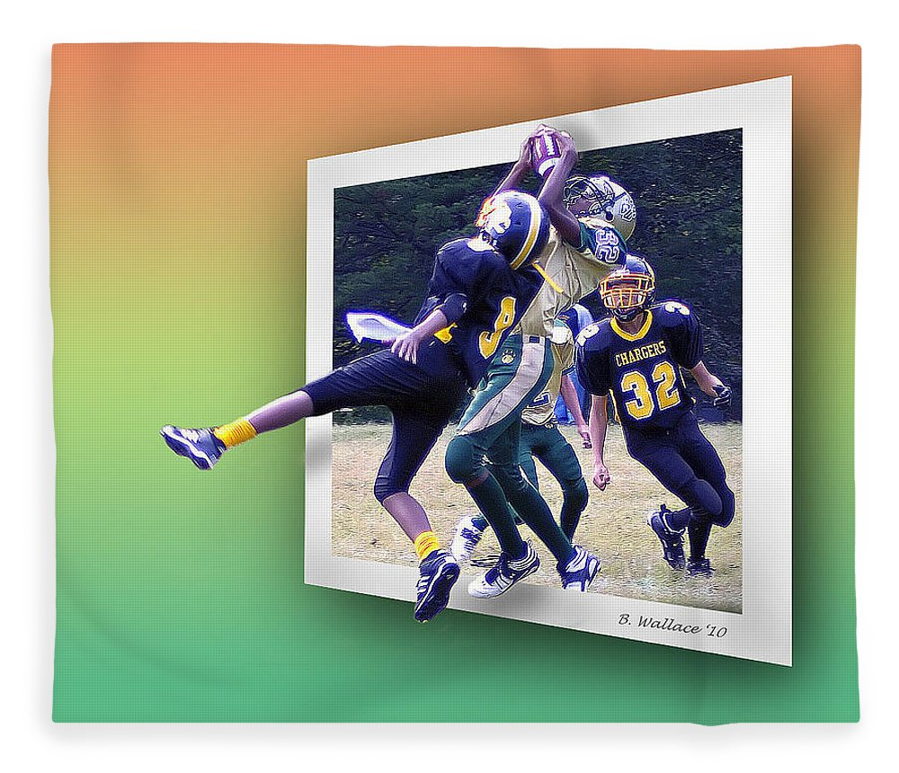 2d Fleece Blanket featuring the photograph Hail Mary by Brian Wallace