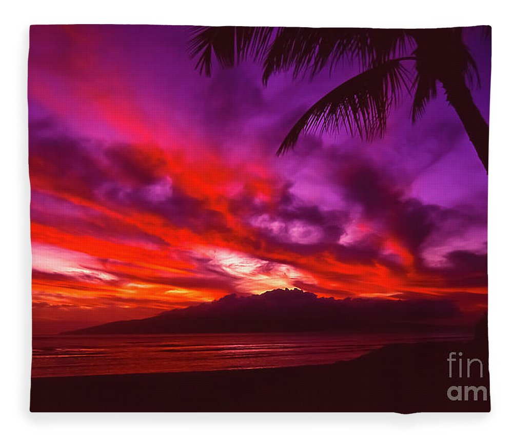 Landscapes Fleece Blanket featuring the photograph Hand of Fire by Jim Cazel