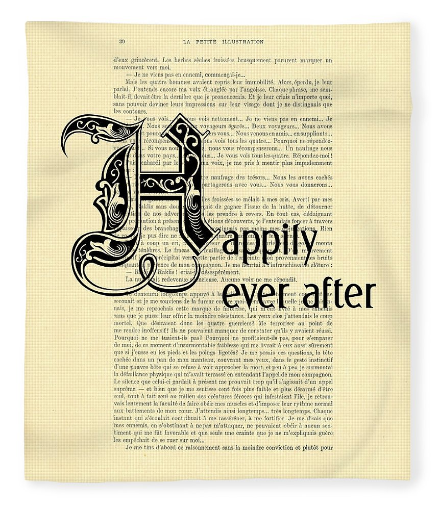 Happily Ever After Fleece Blanket featuring the digital art Happily Ever After by Madame Memento