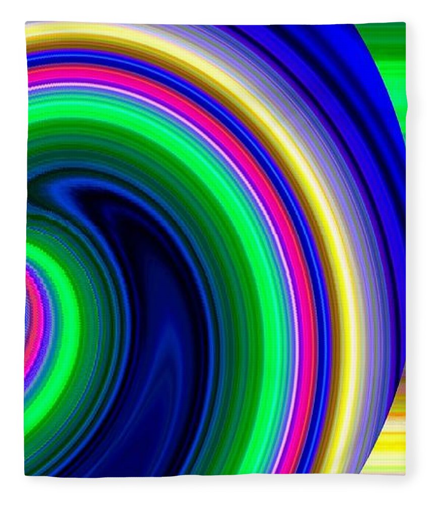 Abstract Fleece Blanket featuring the digital art Harmony 19 by Will Borden