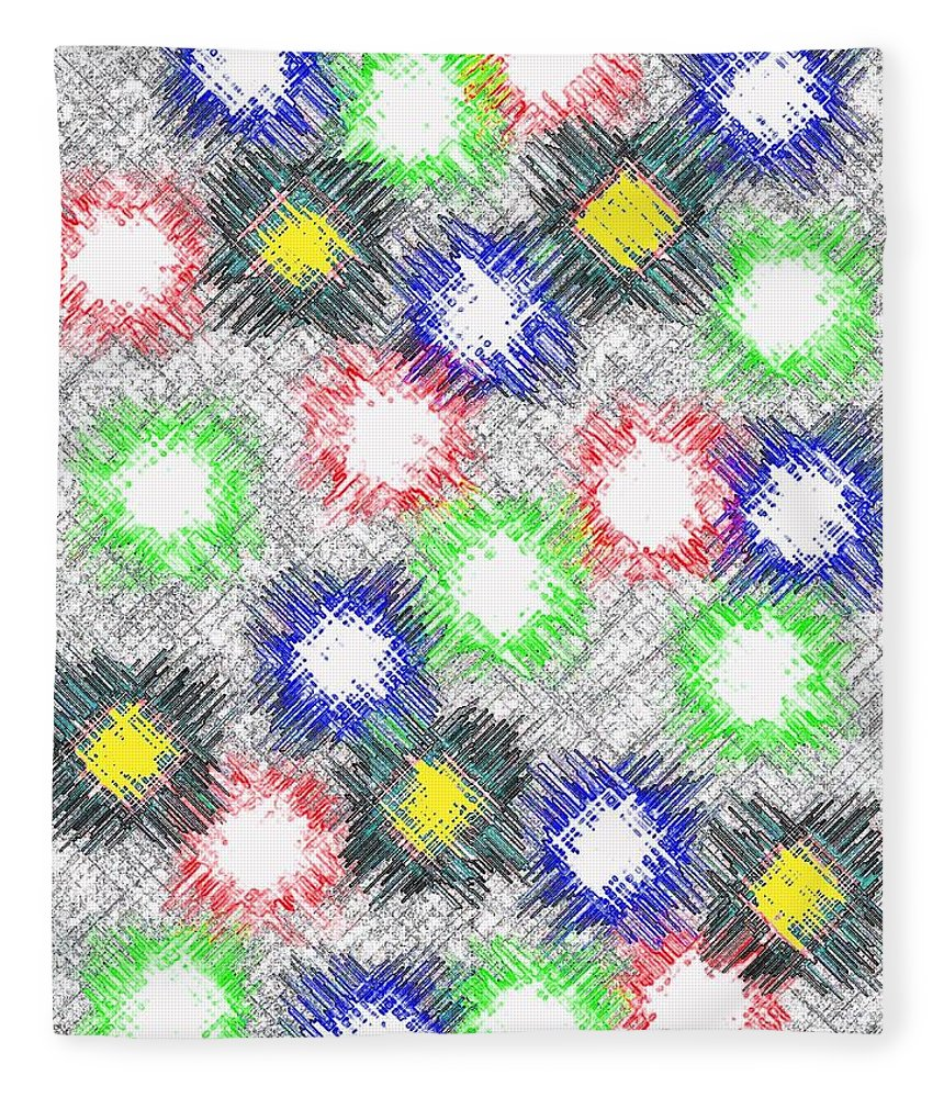 Abstract Fleece Blanket featuring the digital art Harmony 32 by Will Borden