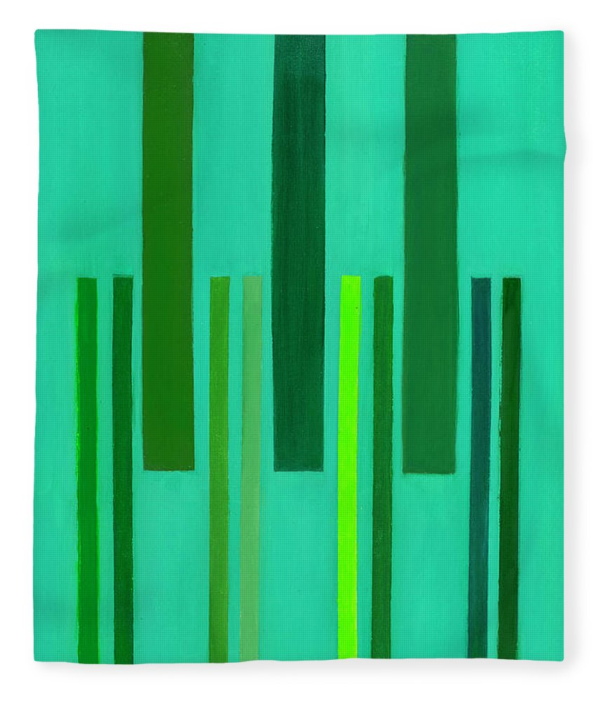 He Tu Fleece Blanket featuring the painting He Tu Wood by Adamantini Feng shui