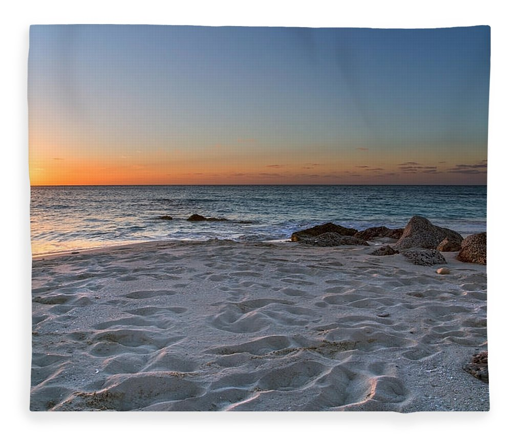 Beach Fleece Blanket featuring the photograph Heartbreak Sunset by Betsy Knapp