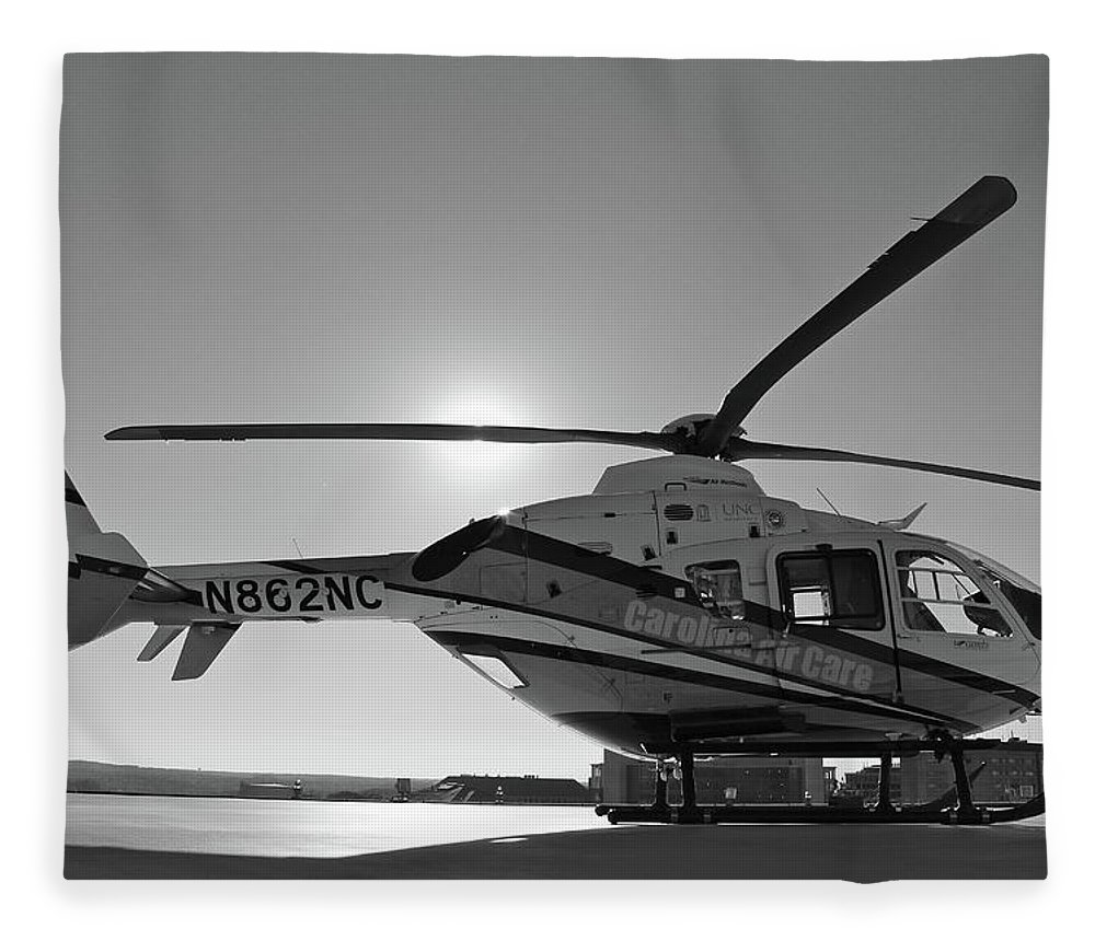 Helicopter Fleece Blanket featuring the digital art Helicopter by Dorothy Binder
