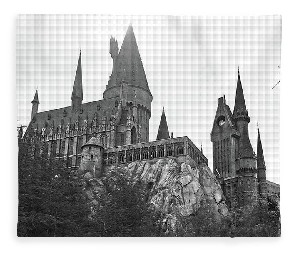 Hogsmeade Fleece Blanket Featuring The Photograph Hogwarts Castle Black And White By Aimee L Maher ALM