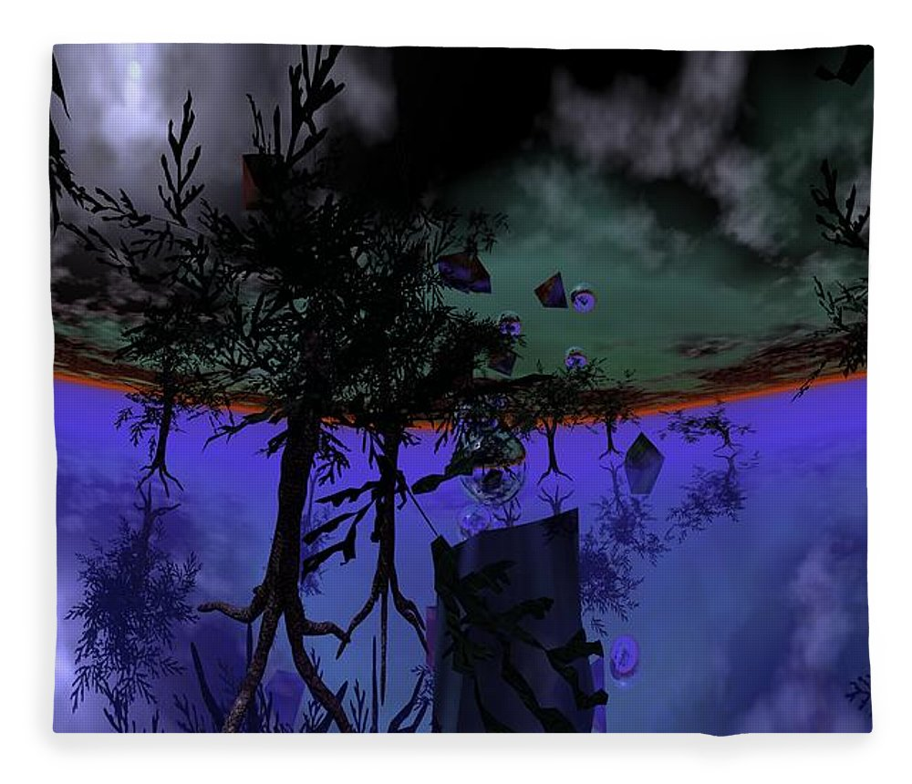 Digital Painting Fleece Blanket featuring the digital art Homage by David Lane