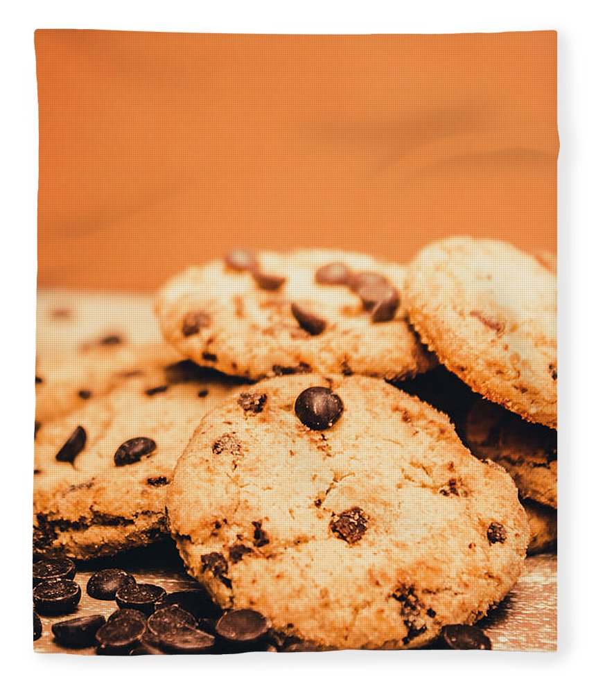 Chocolate Fleece Blanket featuring the photograph Home Baked Chocolate Biscuits by Jorgo Photography - Wall Art Gallery