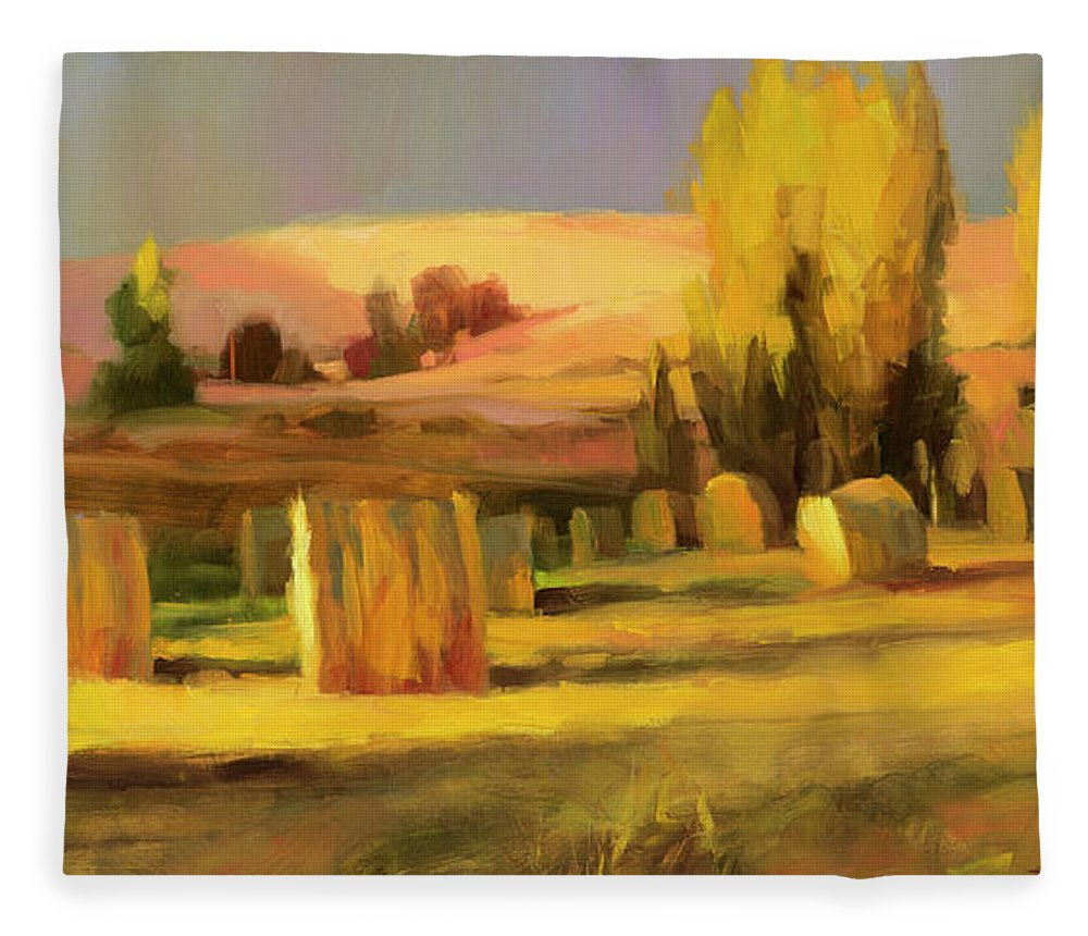 Country Fleece Blanket featuring the painting Homeland 3 by Steve Henderson