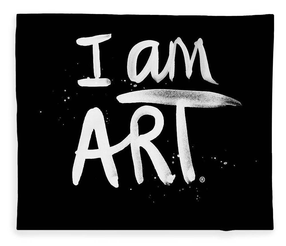I Am Art Fleece Blanket featuring the mixed media I Am Art- Painted by Linda Woods