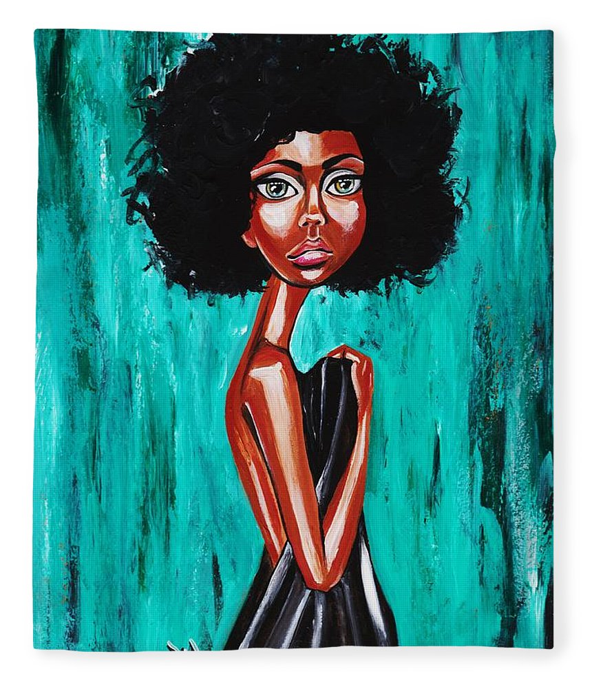 Afro Fleece Blanket featuring the photograph If From Past Sins Ive Been Washed Clean-why Do I Feel So Dirty by Artist RiA