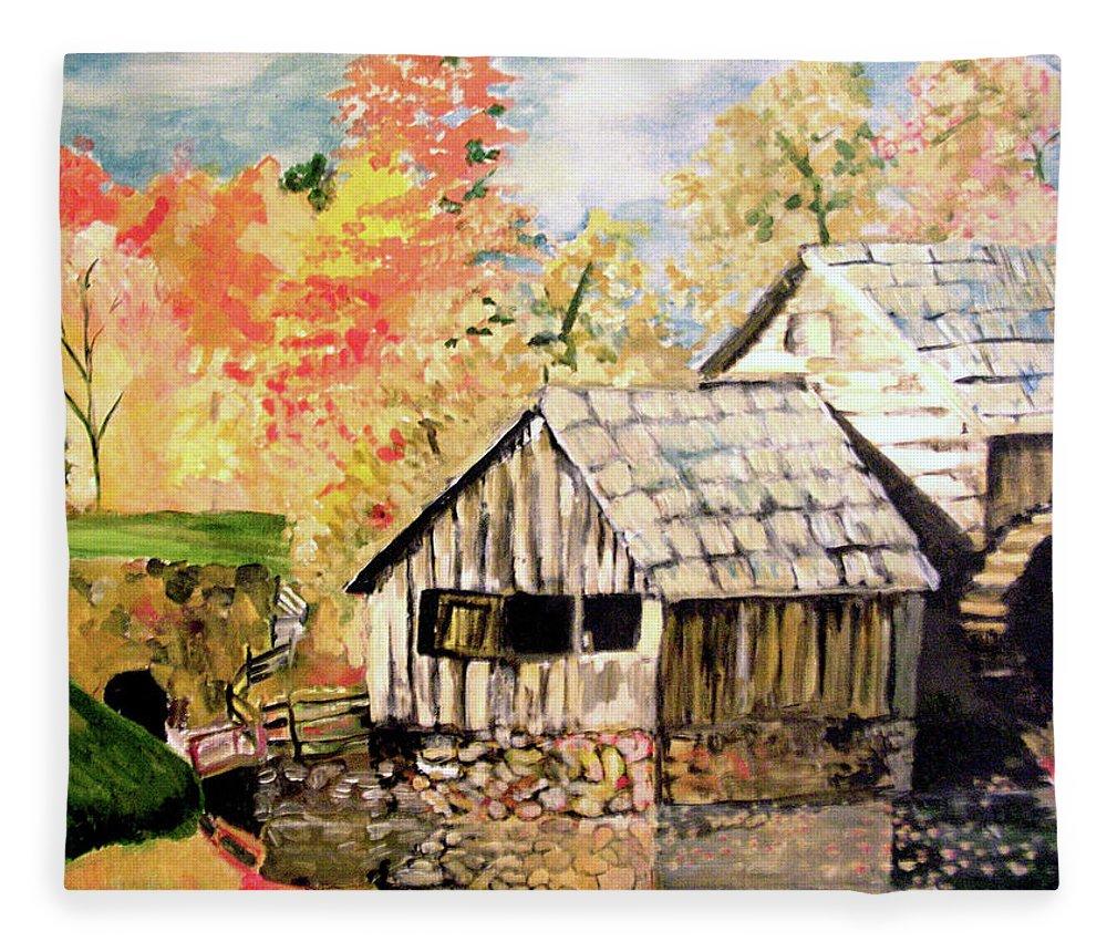 In The Quiet Moments Fleece Blanket featuring the painting In The Quiet Moments by Seth Weaver