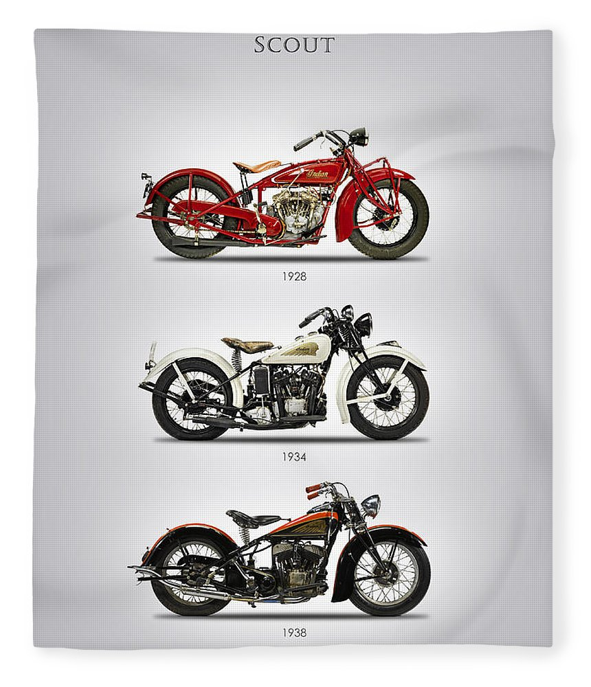 Indian Scout Fleece Blanket featuring the photograph Scout Trio by Mark Rogan