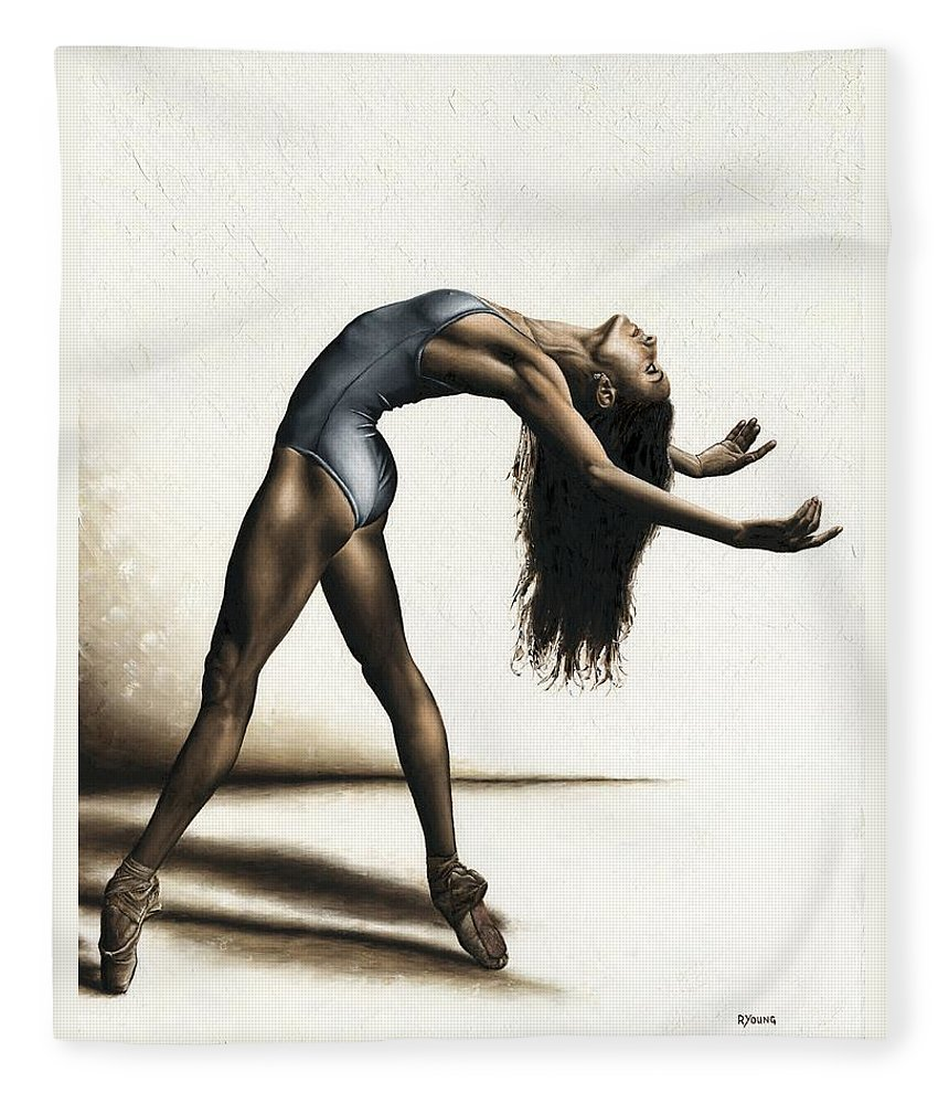 Dance Fleece Blanket featuring the painting Invitation To Dance by Richard Young