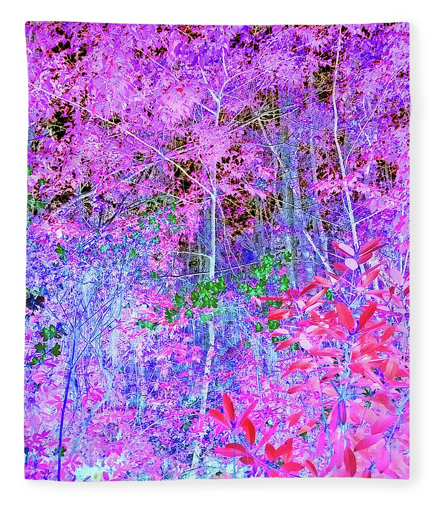 Photography Fleece Blanket featuring the digital art It's A Surreal Jungle Out There by Marian Bell