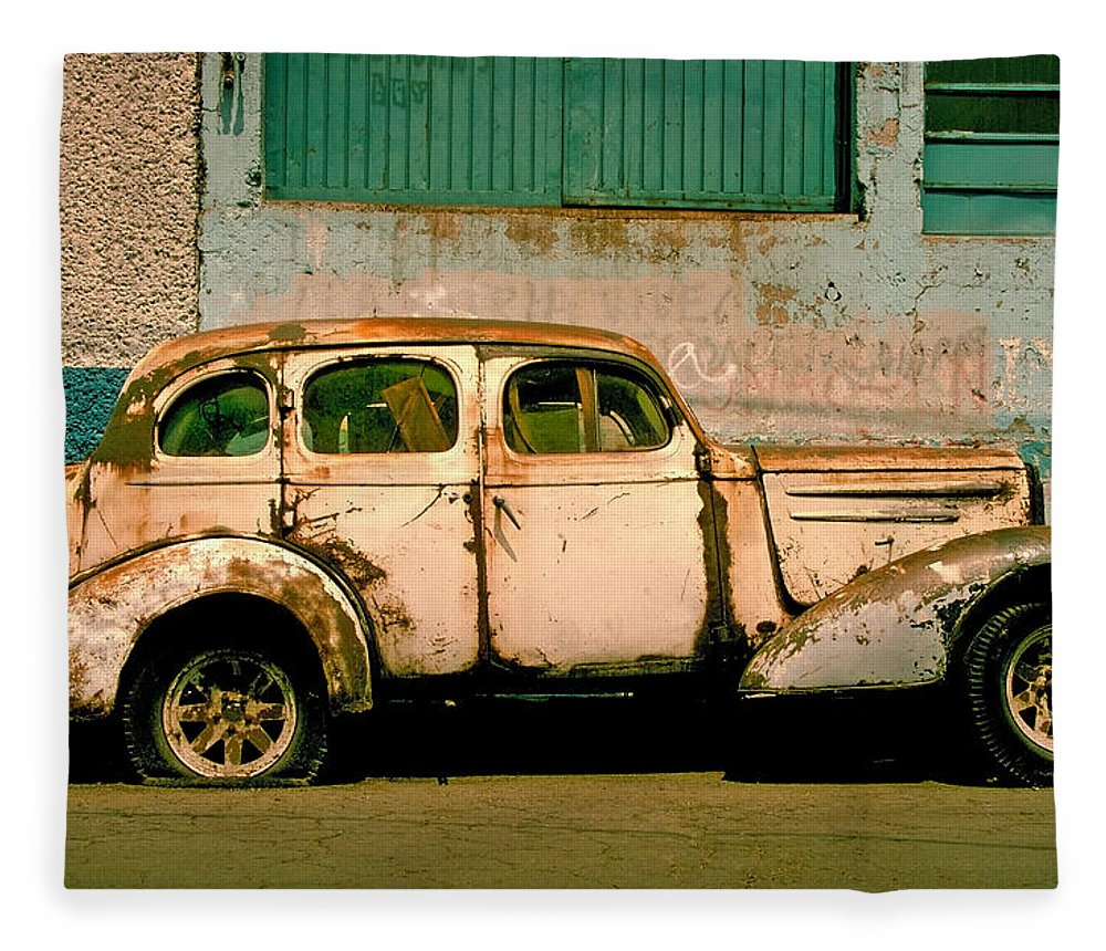 Skip Fleece Blanket featuring the photograph Jalopy by Skip Hunt